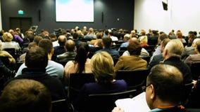 Έννοια παρουσίασης συνεδρίασης των διασκέψεων σεμιναρίου επιχειρηματιών 4k φιλμ μικρού μήκους