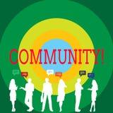 Εννοιολογικό χέρι που γράφει παρουσιάζοντας Κοινότητα Συμμαχία κρατικών συνεταιρισμών ένωσης γειτονιάς επίδειξης επιχειρησιακών φ διανυσματική απεικόνιση
