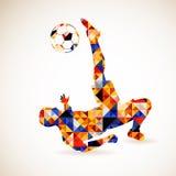 Έννοια ποδοσφαίρου Στοκ Εικόνες