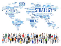 Έννοια προγραμματισμού αποστολής παγκόσμιου οράματος ανάλυσης στρατηγικής Στοκ Φωτογραφία