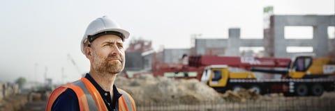 Έννοια προγραμματισμού εργοτάξιων οικοδομής αρχιτεκτόνων μηχανικών Στοκ φωτογραφία με δικαίωμα ελεύθερης χρήσης