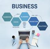 Έννοια προγραμματισμού οράματος επιχειρησιακής στρατηγικής Στοκ Εικόνα