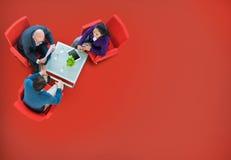 Έννοια προγραμματισμού συνεδρίασης της συζήτησης επιχειρησιακής ομάδας Στοκ εικόνες με δικαίωμα ελεύθερης χρήσης