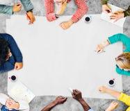 Έννοια προγραμματισμού συνεδρίασης της συζήτησης ομαδικής εργασίας ομάδας Στοκ Εικόνα