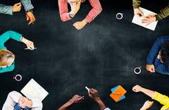 Έννοια προγραμματισμού συνεδρίασης της συζήτησης ομαδικής εργασίας ομάδας Στοκ Εικόνες