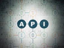 Έννοια προγραμματισμού: API στο υπόβαθρο εγγράφου ψηφιακών στοιχείων Στοκ Εικόνες