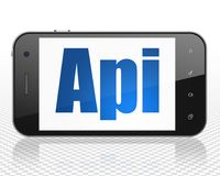 Έννοια προγραμματισμού: Smartphone με το API στην επίδειξη Στοκ φωτογραφίες με δικαίωμα ελεύθερης χρήσης