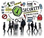 Έννοια προστασίας ασφάλειας ανθρώπων εργαζομένων επιχειρησιακών γραφείων Στοκ Εικόνες
