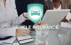 Έννοια προστασίας ζημίας ασφαλιστικού ατυχήματος οχημάτων Στοκ εικόνες με δικαίωμα ελεύθερης χρήσης