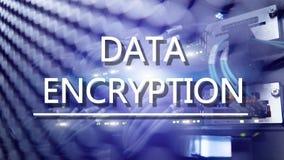 Έννοια προστασίας: Κρυπτογράφηση στοιχείων στο ψηφιακό υπόβαθρο υπερυπολογιστών στοκ φωτογραφίες