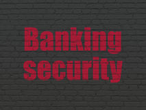 Έννοια προστασίας: Τραπεζική ασφάλεια στον τοίχο Στοκ Εικόνες