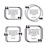 Έννοια προτύπων αφισών παραθύρων κειμένου αποσπάσματος παρατήρησης κενή κενή παραπομπή πλαισίων Εικονίδιο συμβόλων παραγράφου ανα διανυσματική απεικόνιση