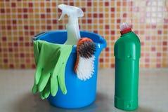 Έννοια προϊόντων καθαρισμού Στοκ Εικόνες