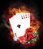 Έννοια πόκερ Στοκ Φωτογραφία