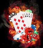 Έννοια πόκερ Στοκ Εικόνες