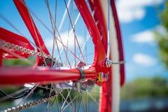 Έννοια πλαισίων ποδηλάτων των οικολογικών μέσων συγκοινωνίας και healt Στοκ Εικόνα