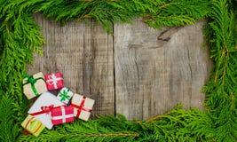 Έννοια πλαισίων Χριστουγέννων Στοκ φωτογραφίες με δικαίωμα ελεύθερης χρήσης