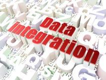 Έννοια πληροφοριών: Ολοκλήρωση στοιχείων στο υπόβαθρο αλφάβητου στοκ φωτογραφίες με δικαίωμα ελεύθερης χρήσης