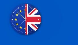 Έννοια ρολογιών Brexit απεικόνιση αποθεμάτων
