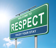 Έννοια σεβασμού. Στοκ Εικόνες