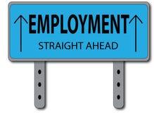 Έννοια σημαδιών απασχόλησης Στοκ φωτογραφία με δικαίωμα ελεύθερης χρήσης