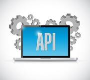 Έννοια σημαδιών υπολογιστών τεχνολογίας API Στοκ Φωτογραφίες