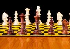 Έννοια σκακιού με τα κομμάτια ` Στοκ Φωτογραφίες