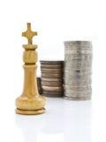 έννοια σκακιού οικονομ&iota Στοκ Εικόνες
