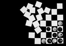 έννοια σκακιού χαρτονιών Στοκ Φωτογραφίες