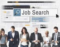 Έννοια σταδιοδρομίας στρατολόγησης ανθρώπινων δυναμικών αναζήτησης εργασίας Στοκ Φωτογραφία