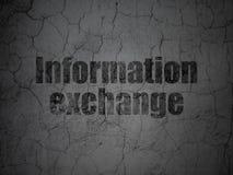 Έννοια στοιχείων: Ανταλλαγή πληροφοριών στο υπόβαθρο τοίχων grunge απεικόνιση αποθεμάτων