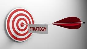 έννοια στρατηγικής κεντρικών στόχων βελών Στοκ Εικόνα