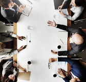 Έννοια στρατηγικής προγραμματισμού συνεδρίασης της επιχειρησιακής ομάδας Στοκ εικόνα με δικαίωμα ελεύθερης χρήσης
