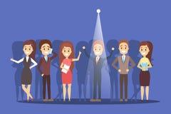 Έννοια στρατολόγησης Ιδέα της επιλογής ενός υποψηφίου ελεύθερη απεικόνιση δικαιώματος