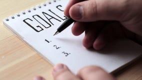 Έννοια στόχων Έννοια ιδέας κινήτρου φιλμ μικρού μήκους