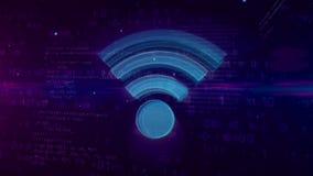 Έννοια συμβόλων επικοινωνίας WI-Fi απεικόνιση αποθεμάτων