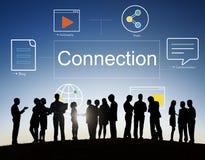 Έννοια συμβόλων εικονιδίων επικοινωνίας τεχνολογίας Στοκ Εικόνες