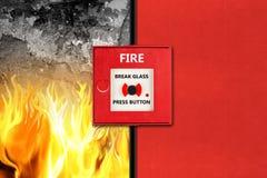 Έννοια συναγερμών πυρκαγιάς Στοκ εικόνα με δικαίωμα ελεύθερης χρήσης