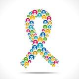 Έννοια συνειδητοποίησης του AIDS Στοκ Εικόνες