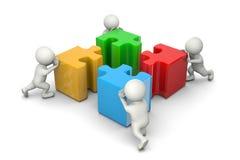 Έννοια συνεργασίας γρίφων απεικόνιση αποθεμάτων