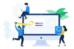 Έννοια συνεργασίας σχεδιαστών και υπεύθυνων για την ανάπτυξη διανυσματική απεικόνιση