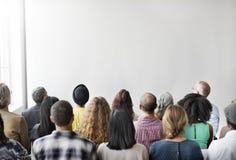 Έννοια συνεδρίασης του ακούσματος σεμιναρίου επιχειρησιακής ομάδας στοκ φωτογραφία
