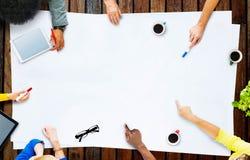 Έννοια συνεδρίασης του προγράμματος προγραμματισμού επιχειρησιακής ομάδας Στοκ Εικόνες