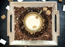 Έννοια σχεδίου καφεΐνης Στοκ Φωτογραφία