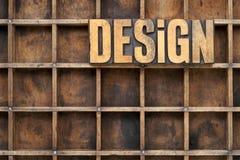 Έννοια σχεδίου στον ξύλινο τύπο Στοκ φωτογραφίες με δικαίωμα ελεύθερης χρήσης