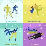 Έννοια σχεδίου χειμερινού αθλητισμού 2x2 Στοκ Εικόνες