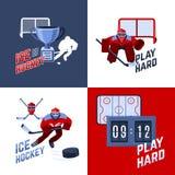 Έννοια σχεδίου χόκεϋ Στοκ εικόνα με δικαίωμα ελεύθερης χρήσης