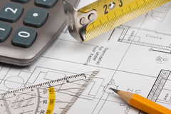 Έννοια σχεδίων οικοδόμησης Στοκ εικόνα με δικαίωμα ελεύθερης χρήσης