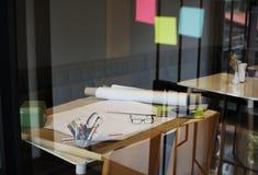 Έννοια σχεδίων σχεδιαγραμμάτων προγράμματος σχεδίου αρχιτεκτόνων Στοκ Φωτογραφίες