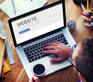Έννοια σχεδιαγράμματος αρχικών σελίδων Διαδικτύου ανάπτυξης ιστοχώρου Στοκ φωτογραφία με δικαίωμα ελεύθερης χρήσης